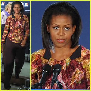 Michelle Obama Visits The Veteran's Administration