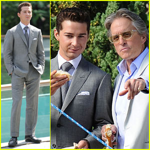 Shia LaBeouf & Michael Douglas: Dapper Duo