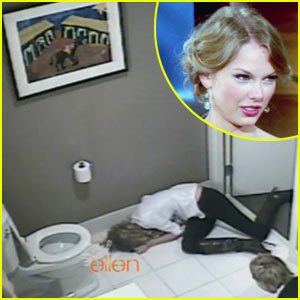 Taylor Swift Writhes Around Bathroom Floor