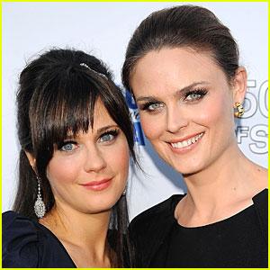 Zooey & Emily Deschanel Will Share The Screen on 'Bones'