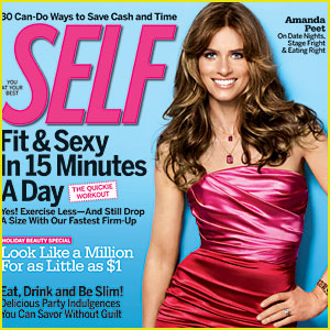 Amanda Peet Covers 'Self' Magazine December 2009