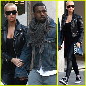 Amber Rose & Kanye West Shop 'Til They Drop in Italy