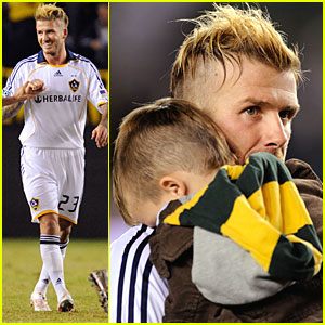 David Beckham & Cruz: Matching Mohawks!