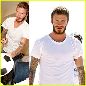 David Beckham Writes Out Loud with Sharpie