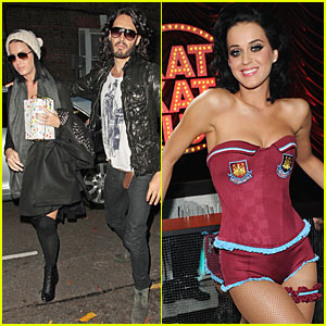 Katy Perry Supports Russell Brand's Soccer Team