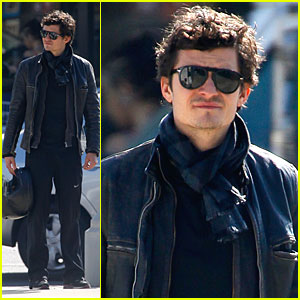 Orlando Bloom is Helmet Handsome