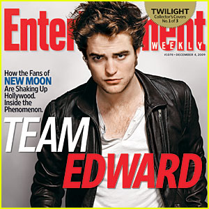 Robert Pattinson Covers Entertainment Weekly -- Team Edward!