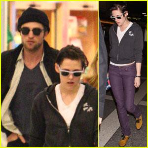 Robert Pattinson & Kristen Stewart Touch Down Together