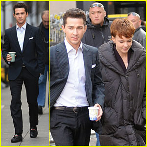 Shia LaBeouf & Carey Mulligan Take A Coffee Break