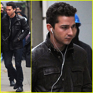 Shia LaBeouf Looks Serious On Set