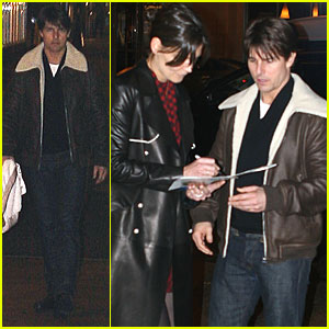 Tom Cruise & Katie Holmes: Anniversary Dinner at Abe & Louie's!