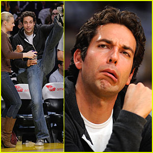 Zachary Levi & Caitlin Crosby: Lakers Lovers
