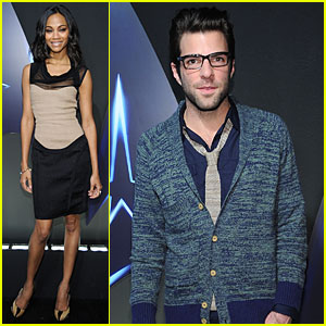 Zachary Quinto & Zoe Saldana: Star Trek DVD Release Party!
