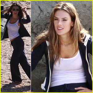 Alessandra Ambrosio is a St. Barts Beauty