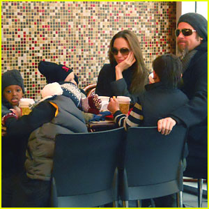 Brad Pitt & Angelina Jolie: Family Lunch in NYC!