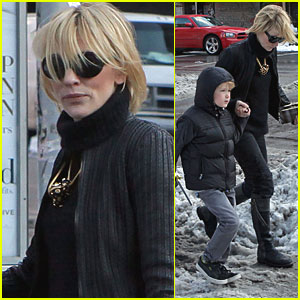 Cate Blanchett and Her Boys Head Home in the Snow