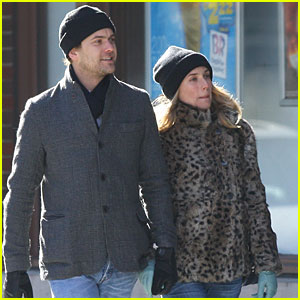 Diane Kruger & Joshua Jackson Have Brunch at Bubby's