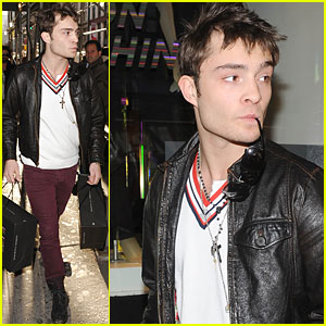 Ed Westwick: Hands Full of Holiday Gifts