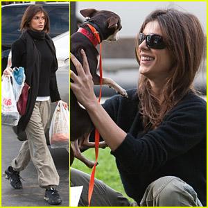 Elisabetta Canalis Adopts A Dog