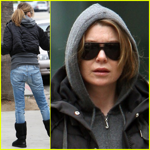 Ellen Pompeo Blacks Out And Bundles Up