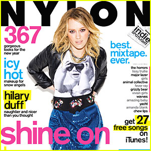 Hilary Duff Covers 'Nylon' January 2010