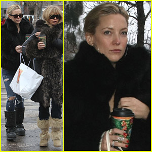 Kate Hudson & Goldie Hawn Bond Over A Cup Of Coffee