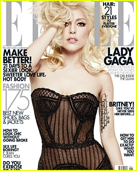 Lady Gaga Covers 'Elle' January 2010