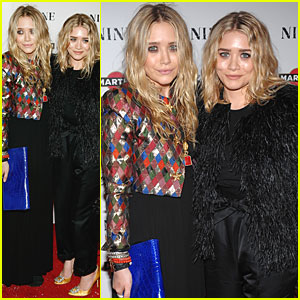 Mary-Kate & Ashley Olsen See 'Nine' in NYC