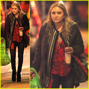 Mary-Kate Olsen & Mom Go Shopping Together