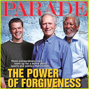 Matt Damon, Morgan Freeman & Clint Eastwood Cover 'Parade'