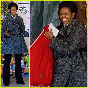 Michelle Obama Brings Toys for Tots from The White House