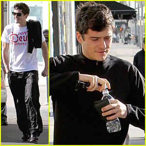 Orlando Bloom Works It Out