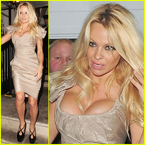 Pamela Anderson Lets Loose in London