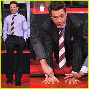 Robert Downey, Jr.: Footprints for Grauman's Forecourt!