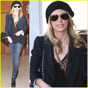 Sarah Michelle Gellar Runs Into Lindsay's Leggings Party!