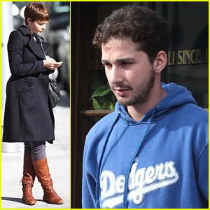 Shia LaBeouf & Carey Mulligan Hang In Hollywood