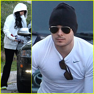 Vanessa Hudgens & Zac Efron: Black & White Workout Buddies!