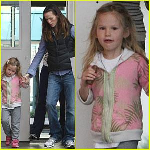 Jennifer Garner & Violet Affleck: Pastels Pair