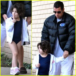 Adam Sandler: Gymnast Daughter Drop-off