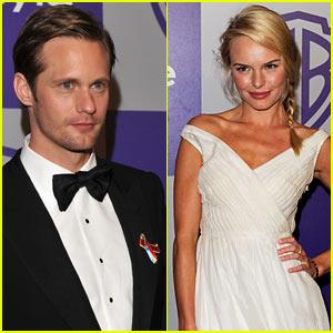 Alexander Skarsgard & Kate Bosworth: Globes Party PDA