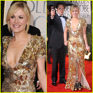 Anna Paquin - Golden Globes 2010 with Stephen Moyer!
