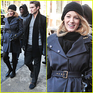 Blake Lively & Chace Crawford: Back to The 'Gossip Girl' Grind!