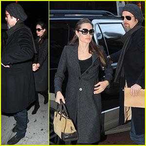 Brad Pitt & Angelina Jolie: Midtown Mates