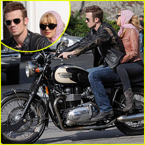 Christina Aguilera & Cam Gigandet: Motorcycle Match