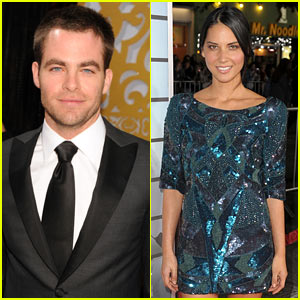Chris Pine &#038; Olivia Munn Split