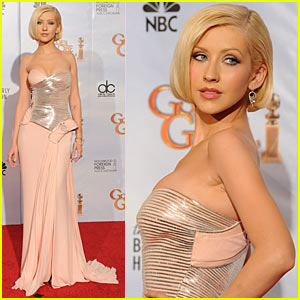 Christina Aguilera - Golden Globes 2010 with Cher!