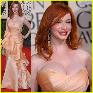 Christina Hendricks - Golden Globes 2010 Red Carpet