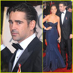 Colin Farrell & Alicja Bachleda - Golden Globes 2010 Red Carpet