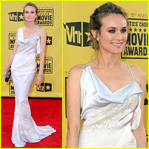 Diane Kruger - Critics' Choice Awards 2010 Red Carpet