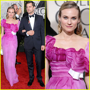 Diane Kruger - Golden Globes 2010 with Joshua Jackson!